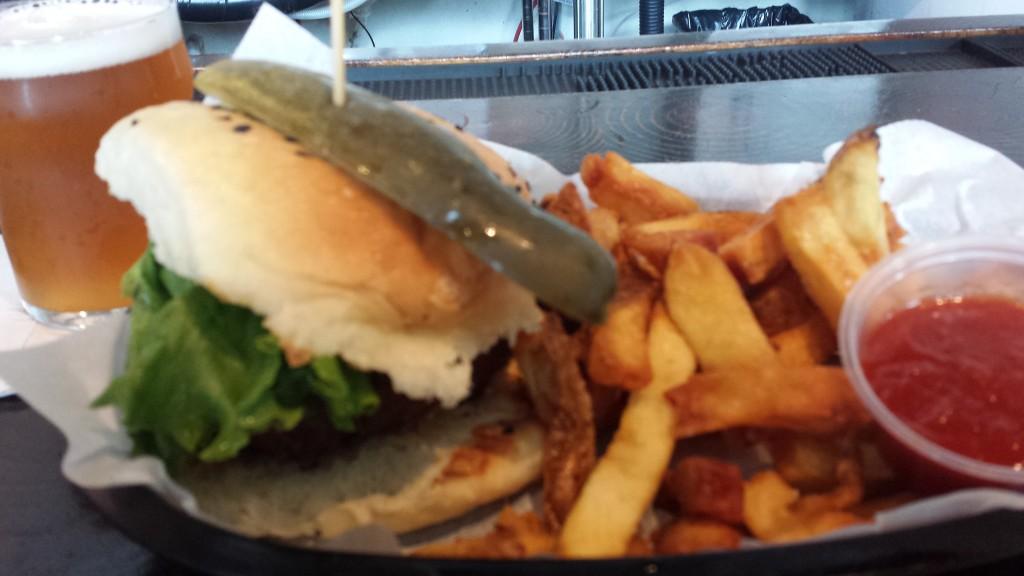 Peekskill Brewery Burgers and Fries