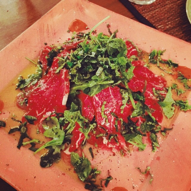 Home Made Carpaccio From Marbled Meat