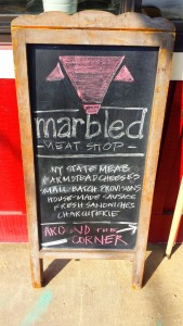 Marbled Meat Cold Spring Sign