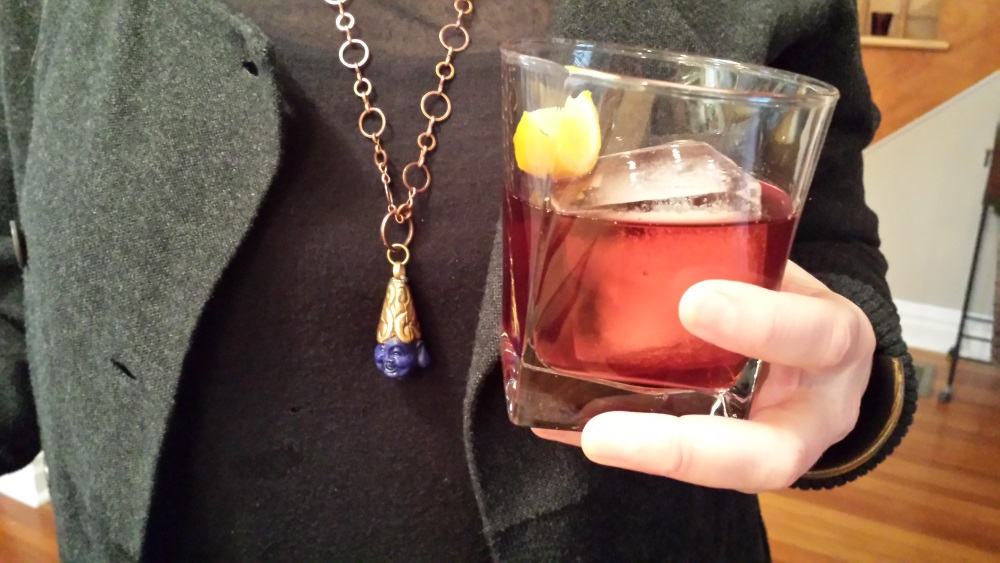 Cold and Stormy Negroni