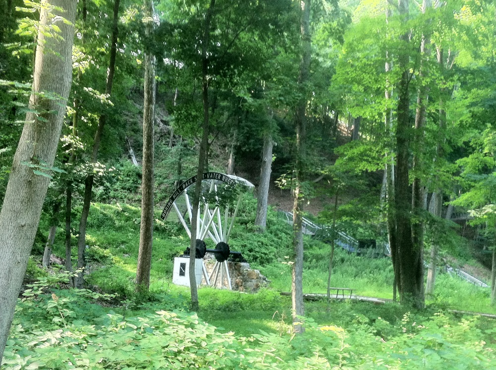 West Point Foundry Preserve Waterwheel in Forest