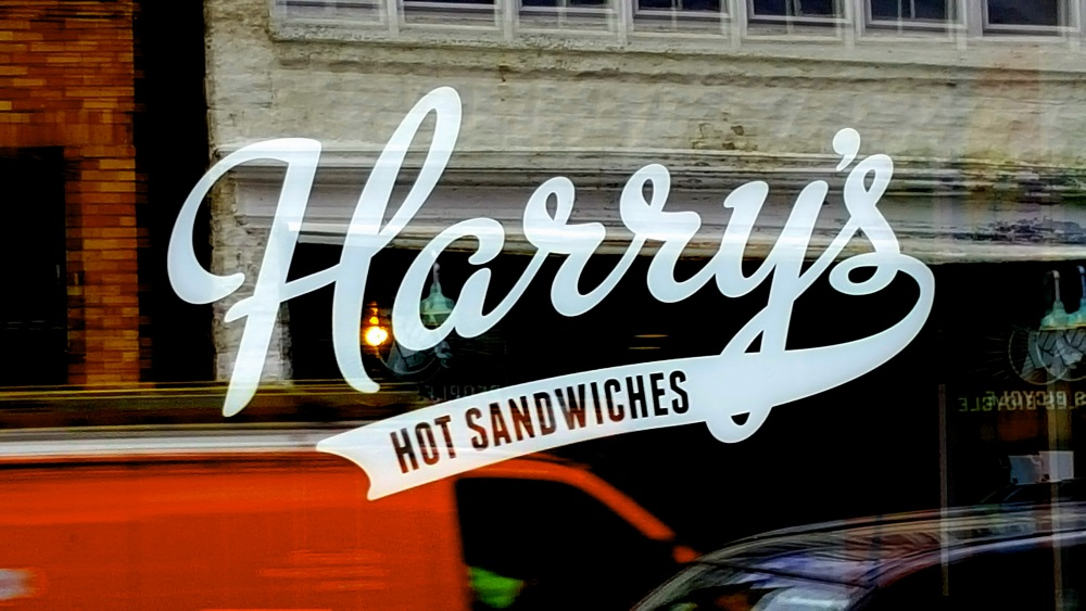 Harrys Hot Sanwiches Window