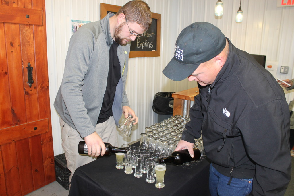 The Boys Pouring