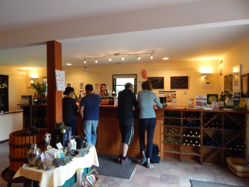 Whitecliff Vineyard Tasting Bar Room