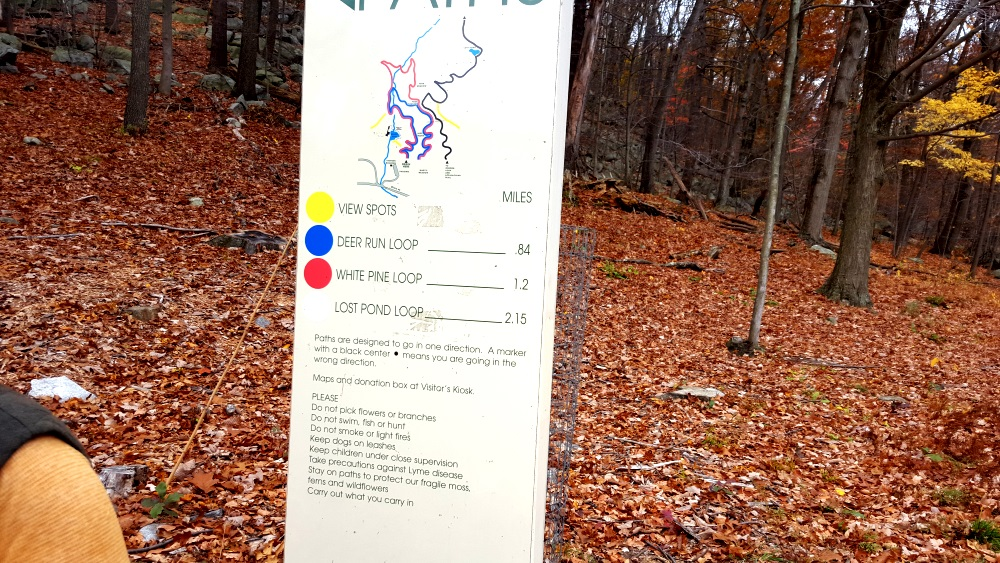 Manitoga Paths Map and Guide